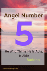 Angel Number 5 brings us the message from the Angels that there is going to be an important change in your life.
