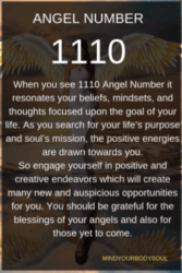 1110 Angel Number: Look Forward To New And Embrace It.