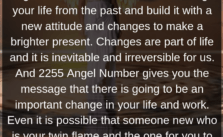 2255 Angel Number Meaning: change may come to your life sooner than you expected and in a strange miraculous way.