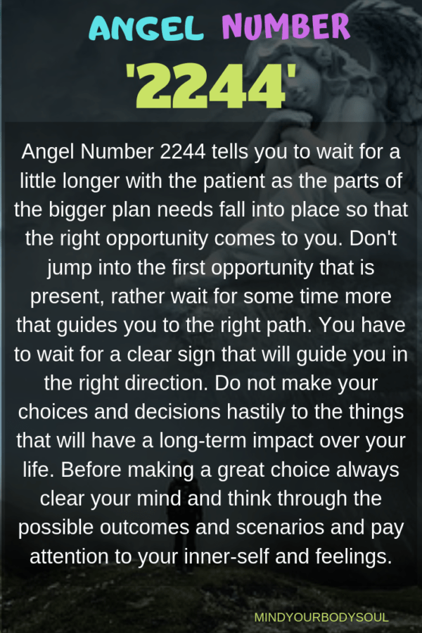 Angel Number 2244: Stay Patient And Wait For The Right