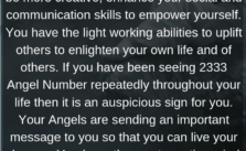 2333 Angel Number: You Are Immensely Creative, Communicative, And Social.