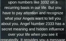 Angel Number 3332