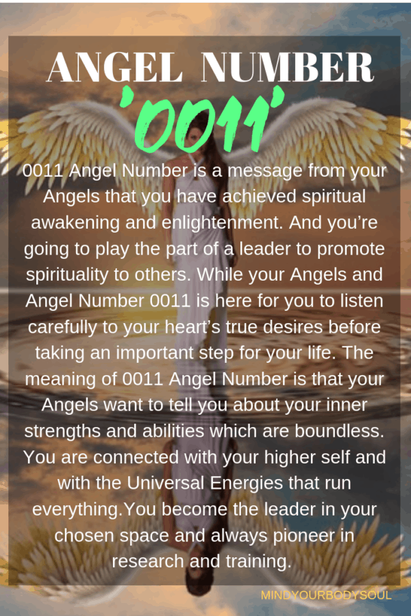 0011 Angel Number And It's Meaning - Mind Your Body Soul