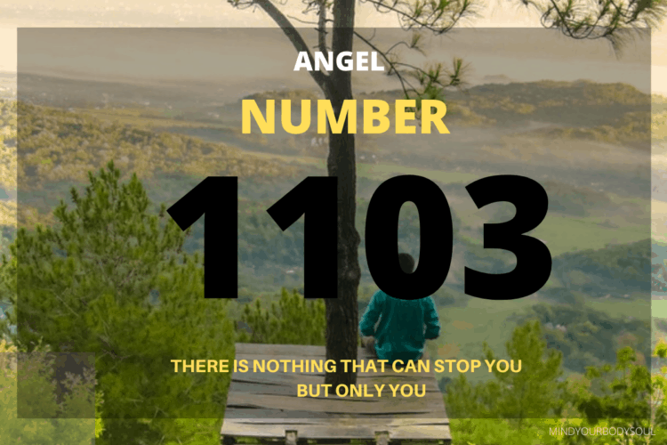 1103 Angel Number is a message from angels to listen to your intuition and to find your passion. You are assisted and helped in your endeavors by the Universal energies but at the same time, you also have to put effort and work hard.