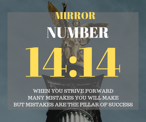 The 2nd meaning of the mirror hour 14:14 is that your subconscious and the Universe is encouraging you to go forward in the direction of your goals. Therefore, first, you have to know your goals and desires which also becomes your soul's purpose.