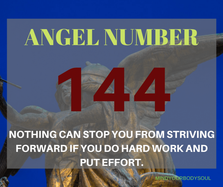 Angel number 144 is an auspicious sign for you that your life is changing in a positive way. So look for the number 144 everywhere when they begin to appear in your life.