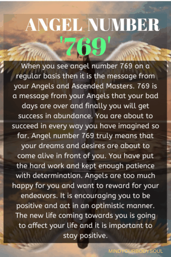Angel Number 769 Meaning