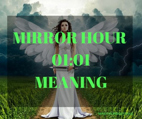 You may see the mirror hour 01:01 several times a day or even between days on a recurring basis. It is a message from the Universe or Higher energies to you.