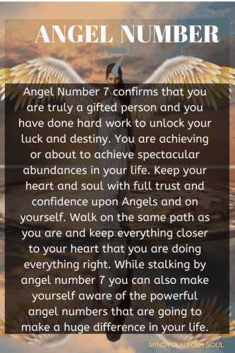 angel number 7 meaning