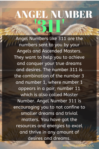 Angel Number 311 Meaning