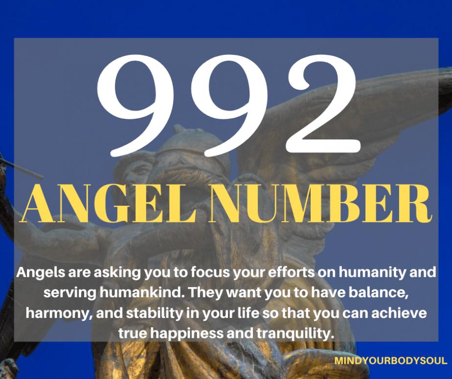 992 Angel Number