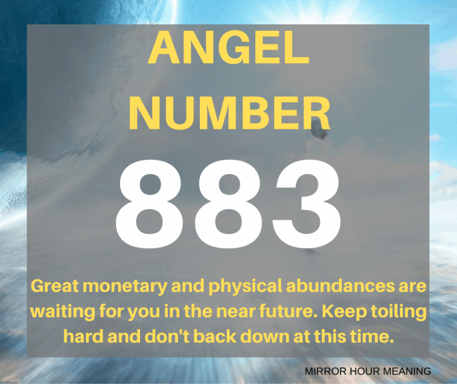 883 Angel Number