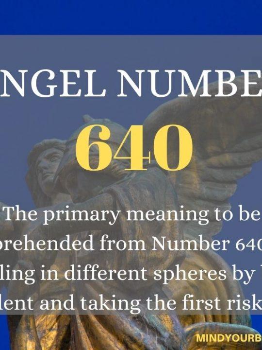 640 Angel Number